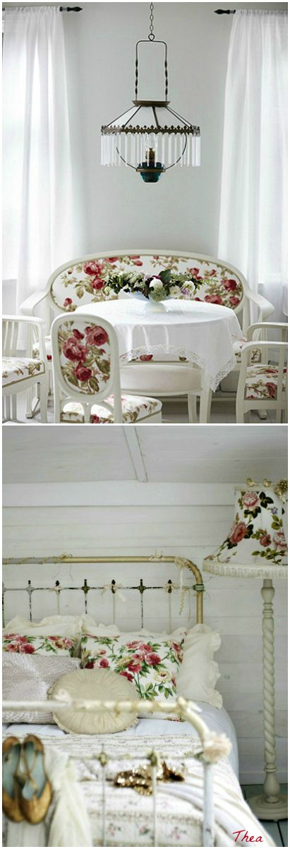 Shabby Chic ♥ Laura Ashley Roses fabric - one of my favourites