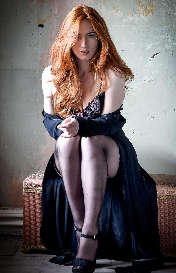 Ordinary small tits redhead