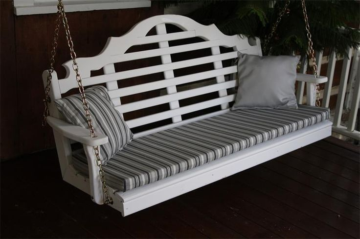 Amish Pine Wood Marlboro Swing Make the Marlboro Swing your own with a wide variety of paint, stain and fabric options.