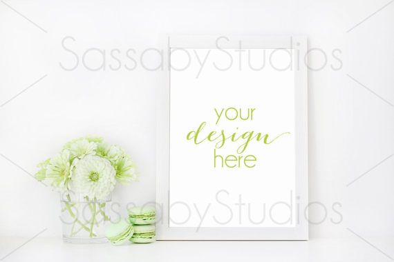 Mint Green Styled Frame Stock Photography / by SassabyStudios