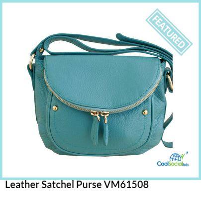 Leather Satchel Purse VM61508 for more details visit http://coolsocialads.com/leather-satchel-purse-vm61508-28158