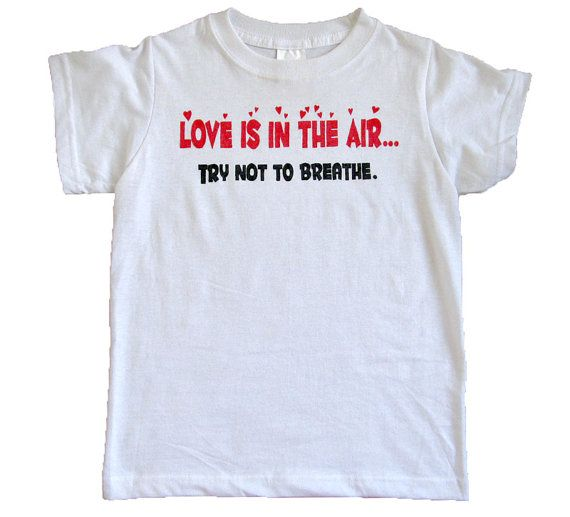items similar to anti valentines day shirt love is in the air try not to breathe antivalentine funny valentine single men women on etsy