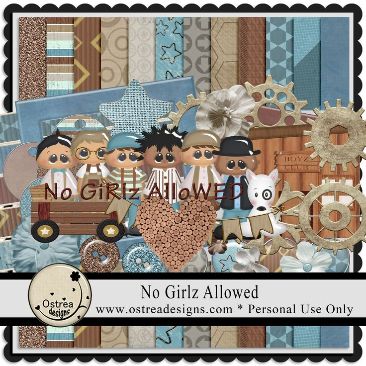 No Girlz Allowed by Ostrea Designs www.ostreadesigns.com