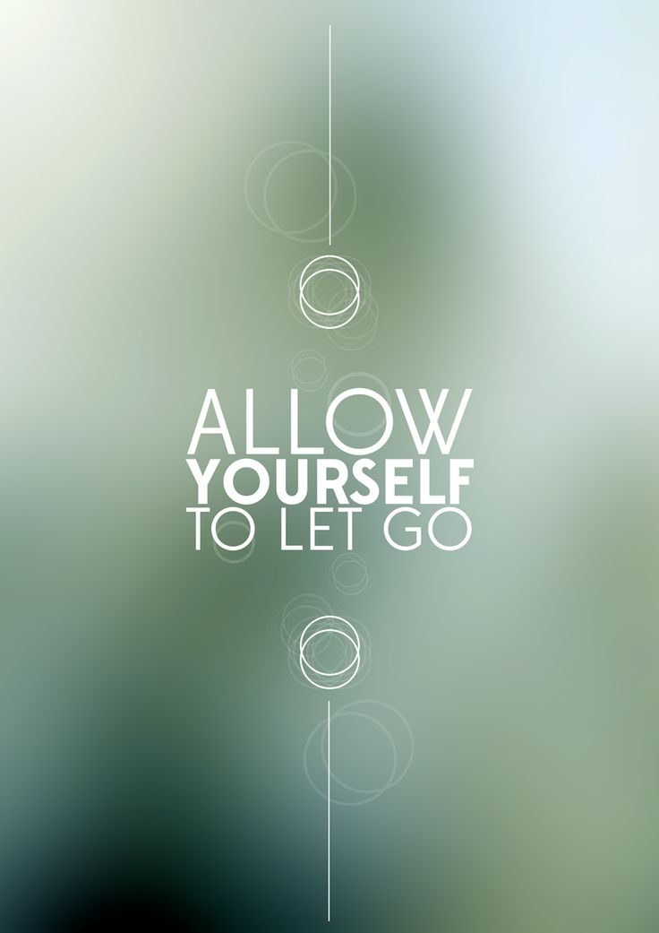Allow yourself to let go. Only then will you have peace!