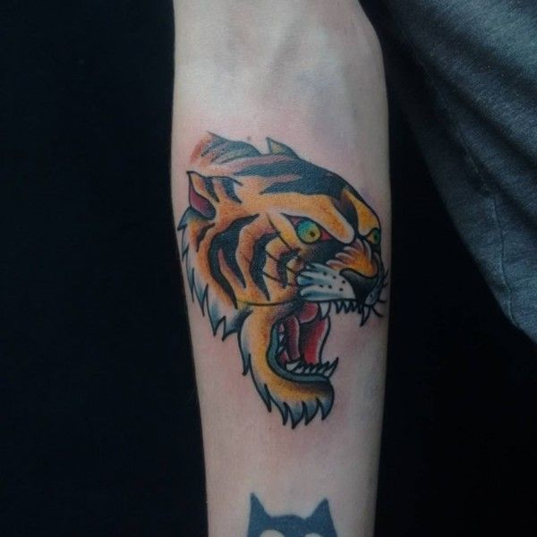 120 Eye Catching Tiger Tattoo Designs And Meanings nice  Check more at http://fabulousdesign.net/tiger-tattoos-meanings/