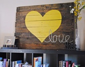DIY:  Hand painted Love Sign on Reclaimed Wood