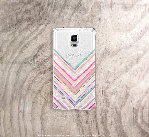 Pastel chevrons Samsung galaxy note 5,4,3 case - a perfect stocking stuffer this Christmas https://www.etsy.com/uk/listing/255901645/samsung-galaxy-note-5-case-clear-floral