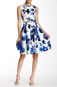 2bff6946e Eliza J Sleeveless Floral Pleated Flare Dress. Vestidos De TrabajoVestido  Con VueloTrajes De VeranoModa Para DamaIdeas ...