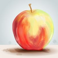 Create a Painterly Apple with Illustrator CS5's new Bristle Brush.