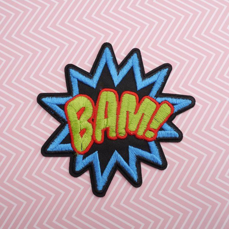 #Patch #BAM - Patch #thermocollant #mot Bam - Patch #onomatopée #Batman - #Ecusson mots de bande dessinée - Applique DC #Comics #BD #KIDS #FASHION par #PicEtPatchEtColegram sur #Etsy https://www.etsy.com/fr/listing/547495151/patch-bam-patch-thermocollant-mot-bam