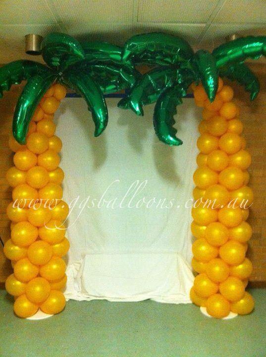 Hawaiian party balloons arch or photo back drop