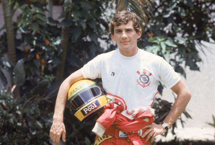 Ayrton Senna, tricampeão de Fórmula 1, era torcedor do Corinthians