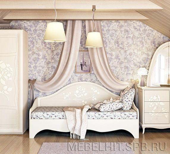 Кровать детская для девочки Астория МН-218-12  Неман  Беларусь