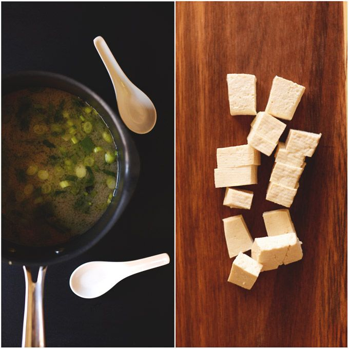 Greens and Tofu Miso Soup