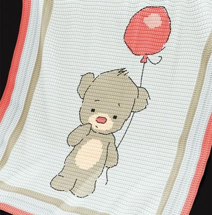 Crochet Pattern   Baby Blanket / Afghan - Baby Bear
