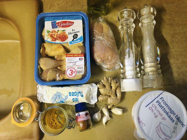 Kip tandoori uit de oven ingrediënten