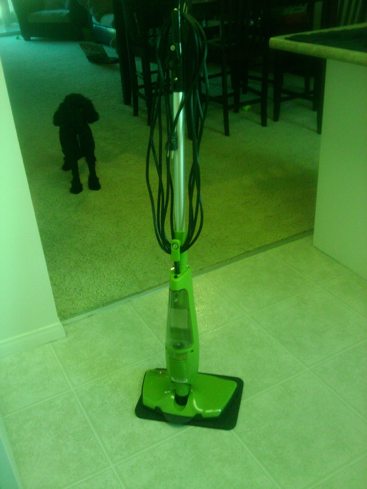 HAAN SI35G Steam Mop. It can go on hard floors, laminate