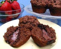 Czekoladowe muffiny z nutella