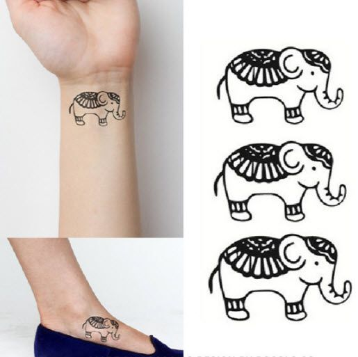17 best images about temporary tattoos on pinterest for Temporary elephant tattoo