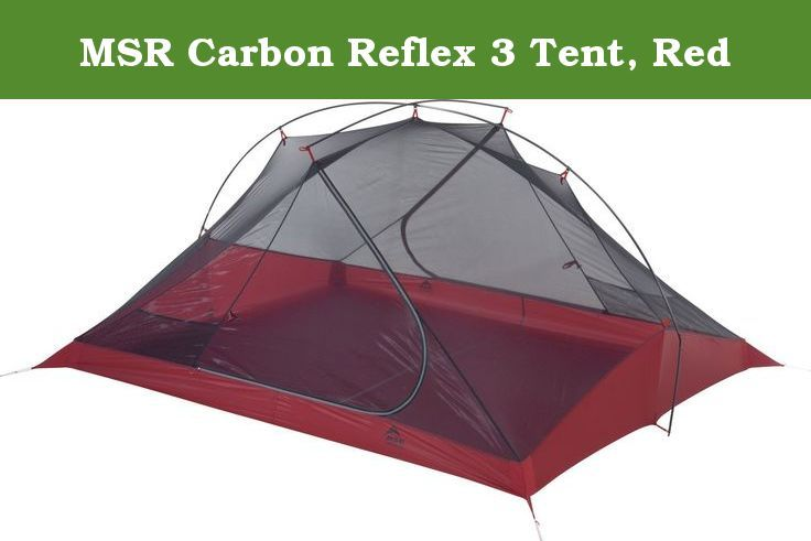 MSR Carbon Reflex 3 Tent, Red. Three used to be a crowd - especially in the backcountry. But now, the freestanding carbon Reflex 3 ultralight tent eliminates the hassle of figuring out sleeping arrangements for three. With two full doors and vestibules, it offers uncompromised accommodations at the weight of many 2-Person ultralight tents. And that means it makes a great option for two as well-especially on longer trips where the value of extra tent space is fully realized-with the…