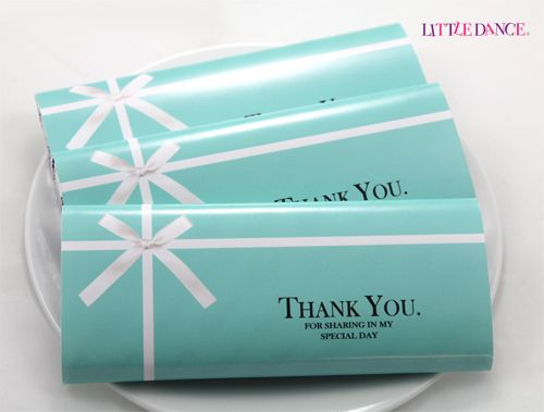 Tiffany Blue party personalised chocolates