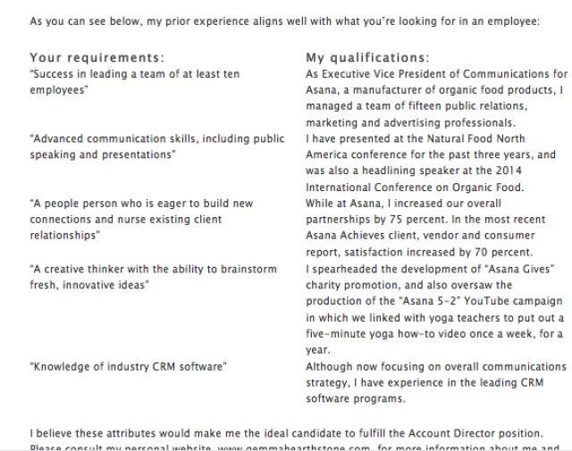 Počet nápadov na tému Cover Letter Sample na Pintereste 17 - basic job application