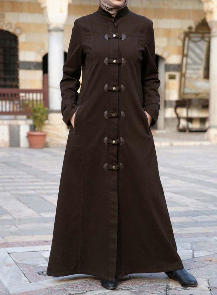 Vivan Trench Jilbab from www.shukrclothing.com #shukr #jilbab #hijab