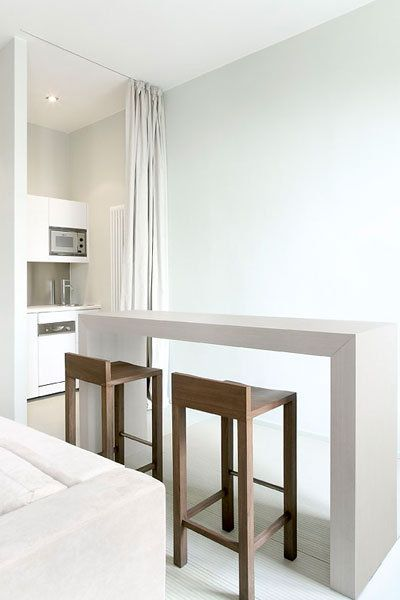 Minimal kitchen,  Lux 11 Apartments in Berlin designed by Claudio Silvestrin _
