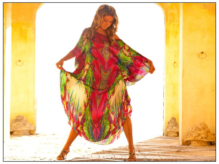Colin Heaney Hot Pink Fiesta #kaftan #silk #luxury
