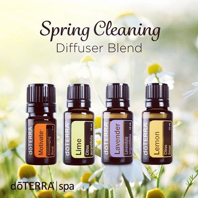 Out with the old and in with the new! This purifying blend of Lavender, Lime, Lemon, and doTERRA Motivate® will help you prepare for the change of season and promote feelings of energy and motivation to get your home in tip-top shape!