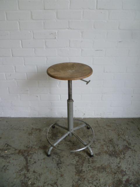 industriele kruk atelier kruk stoel in hoogte verstelbaar