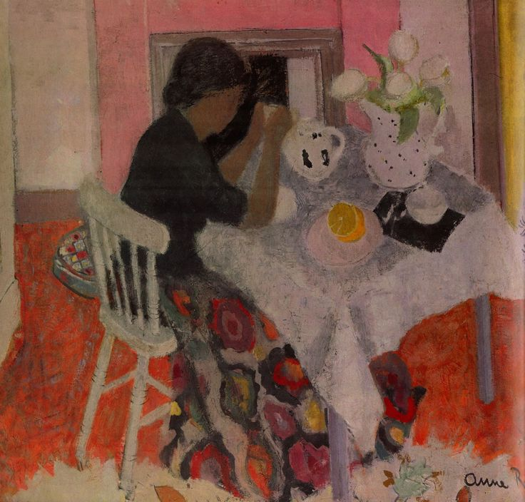 """Figure at a Table"" by Anne Redpath, 1948-9"