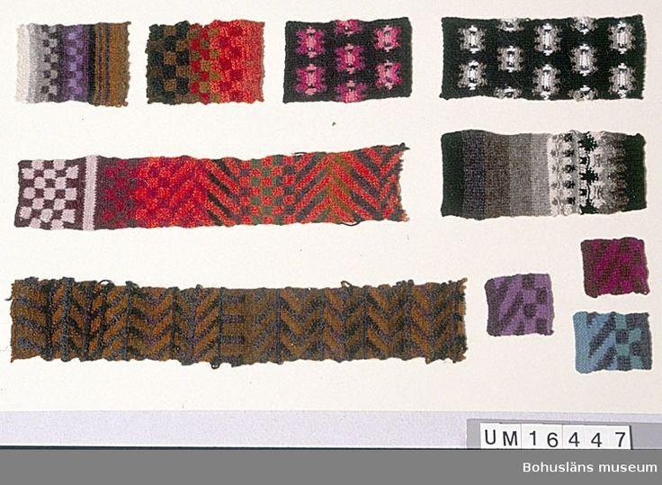Pattern of designer Kerstin Olson. Samples from Bohus Knitting from the 1960s