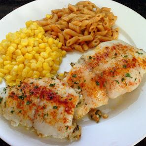 Crab Stuffed Flounder.... I like to give a lemon pepper / cajun crusting myself; get creative with your own favorite!
