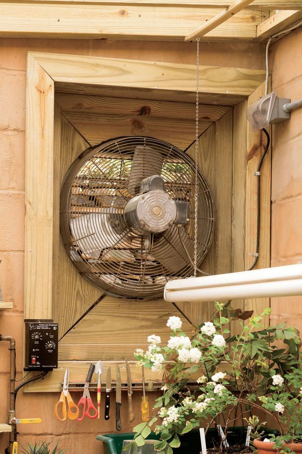 Fungi Fighter - Organize Your Garden Shed - Southernliving. An exhaust fan keeps air moving, which prevents mold, mildew, and other fungi from growing.