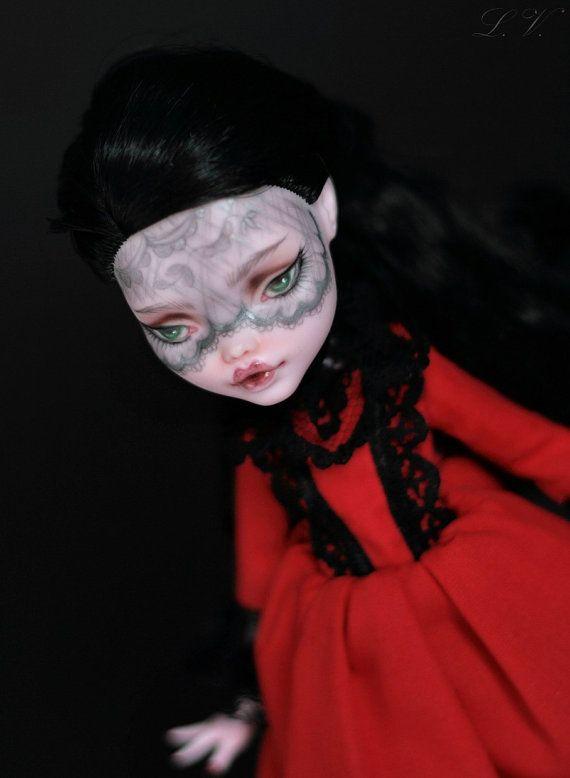 Monster High Ooak Custom Draculaura repaint doll by LadyVerrin