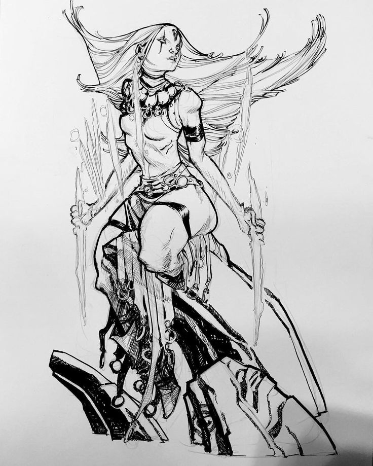 """If you know #XMen- Age of Apocalypse characters, then you'd recognize this young lady as """"Blink""""! If not, then this is just some no-iris girl sitting on a rock. #ageofapocalypse #AoA #art #illustration #ericcanete"""