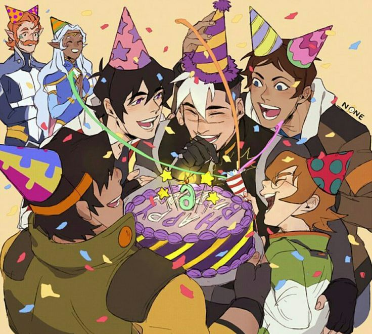 VLD fanart - Team Voltron celebrating Shiro's 6th birthday (he's grown so much~)