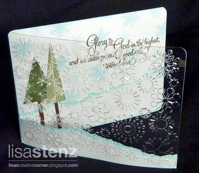 Clear card idea  Lisa's Creative Corner: Christmas