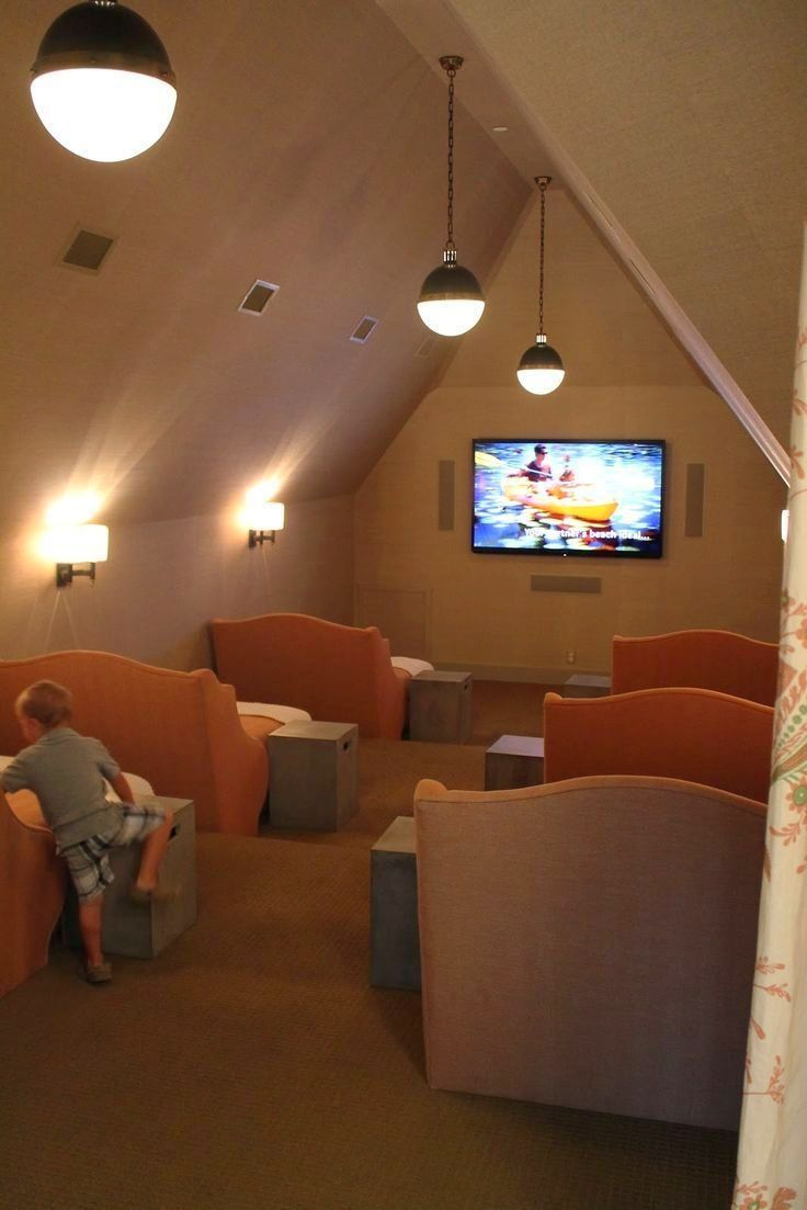 Transform your attic into a private movie theater.