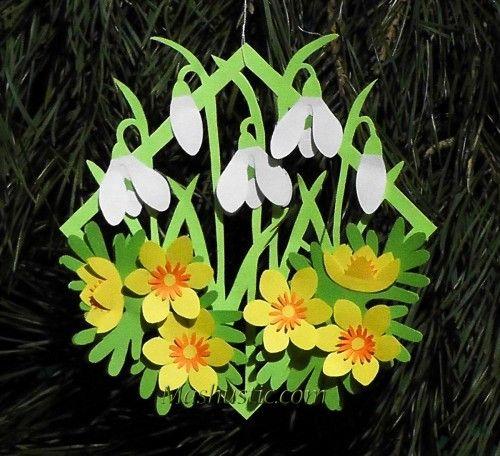 Applique patterns of flowers