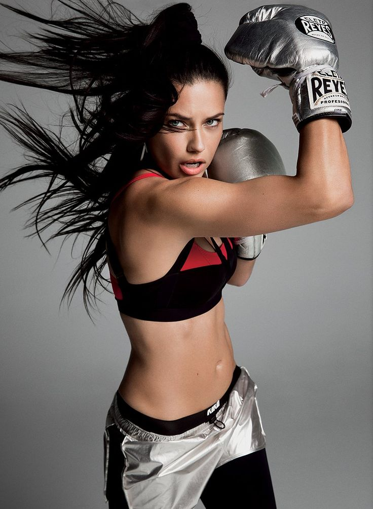 """She has a great jab and a great left hook,"" says Adriana Lima's trainer."