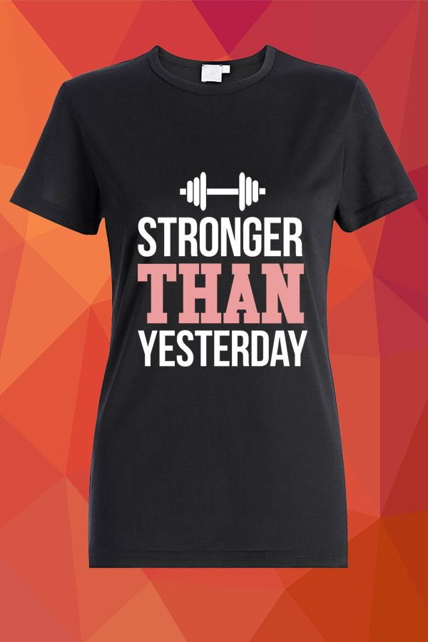 Stronger than yesterday T-shirt  https://www.spreadshirt.com/stronger-than-yesterday-A105045267