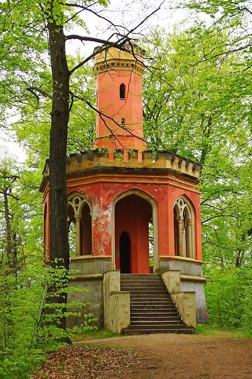 Abandoned garden folly in Karlovy Vary, Czech Republic.
