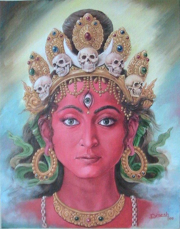 Devi, newari paubha by Dinesh Shrestha