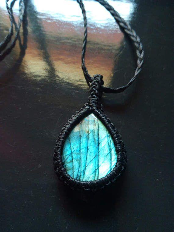 macrame labradorite necklace-pendant-choker