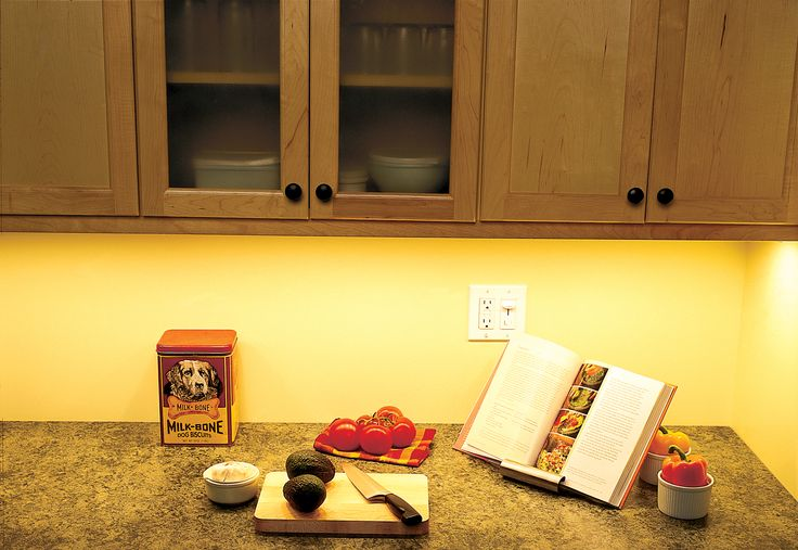 Get a well-lit kitchen with undercabinet task lighting