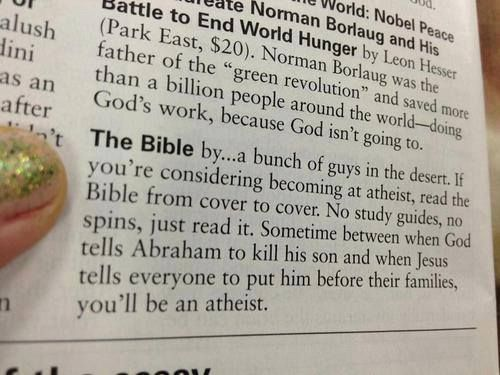 This. Because I actually read the damn thing...and because I'll always love my family more than the spirit in the sky.