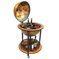 16th Century Italian Style 22-Inch Globe Bar w/ Twisted Floor Stand - 14027766 - Overstock.com Shopping - Great Deals on Bar Storage