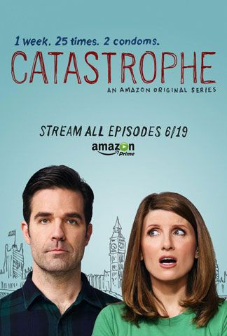 Catastrophe (2015 TV series) The language is pretty rough in places and this is not a show for children but we laughed like hyenas at the writing!